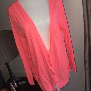 GAP—pink cotton cardigan